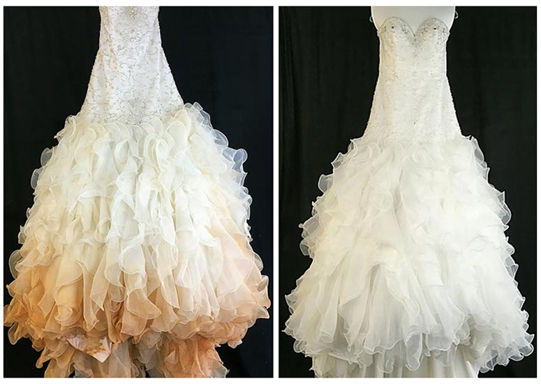 Before After Gown Cleaning
