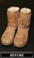 Ugg Boots Before Shores Cleaning